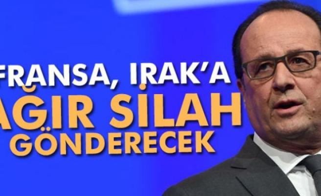 Hollande: 'Irak'a ağır silah desteği sağlanacak'
