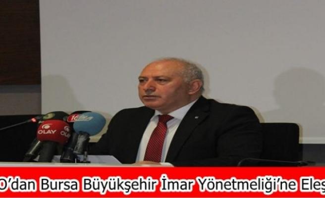 İMO'dan Bursa Büyükşehir İmar Yönetmeliği'ne Eleştiri