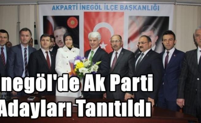 İnegöl'de Ak Parti Adayları Tanıtıldı