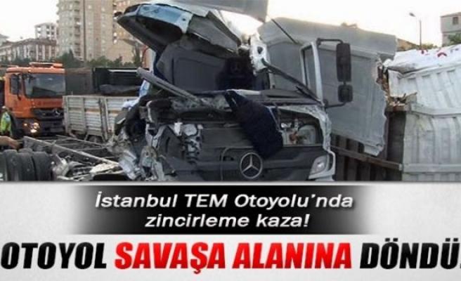 İstanbul TEM Otoyolu'nda zincirleme kaza