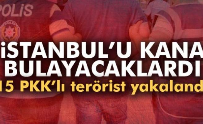 İstanbul'da eylem hazırlığındaki 15 PKK'lı terörist yakalandı