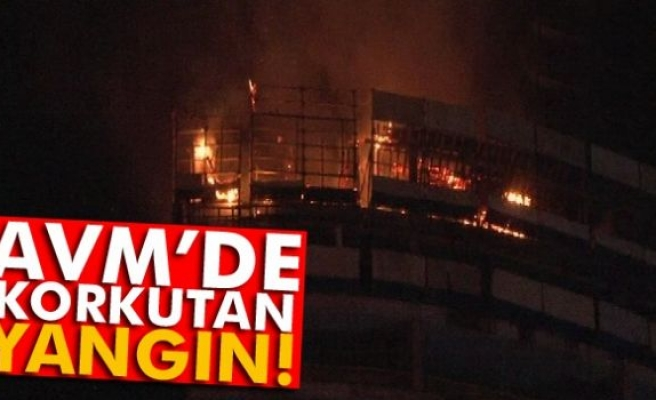 İstanbul'da lüks alışveriş ve yaşam merkezlerinden birinde yangın paniği