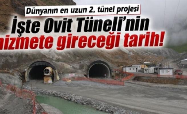 İşte Ovit Tüneli'nin hizmete gireceği tarih!