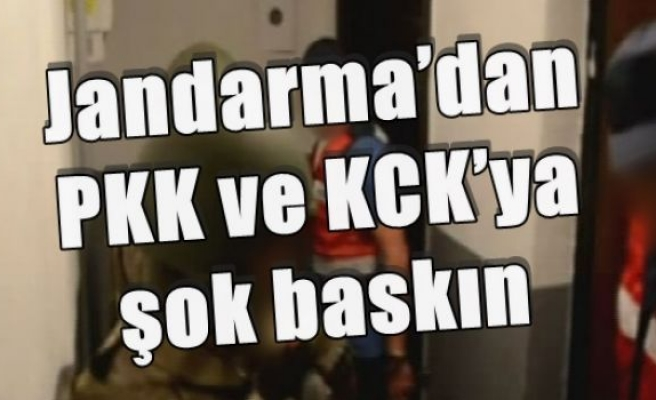 Jandarma'dan PKK ve KCK'ya şok baskın