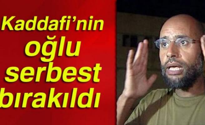 KADDAFİ'NİN OĞLU SERBEST BIRAKILDI!