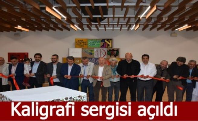 Kaligrafi sergisi açıldı