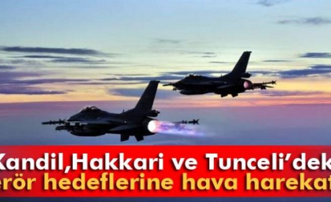 Kandil, Hakkari ve Tunceli'deki terör hedeflerine hava harekatı!