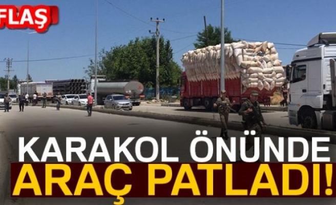KARAKOL ÖNÜNDE ARAÇ PATLADI!