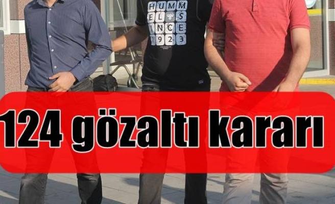 Konya merkezli 31 ilde FETÖ soruşturması: 124 gözaltı kararı