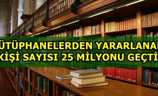 Kütüphanelere üye sayısı 2 milyonu aştı