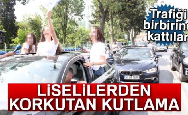 LİSELİLERDEN KORKUTAN KUTLAMA!