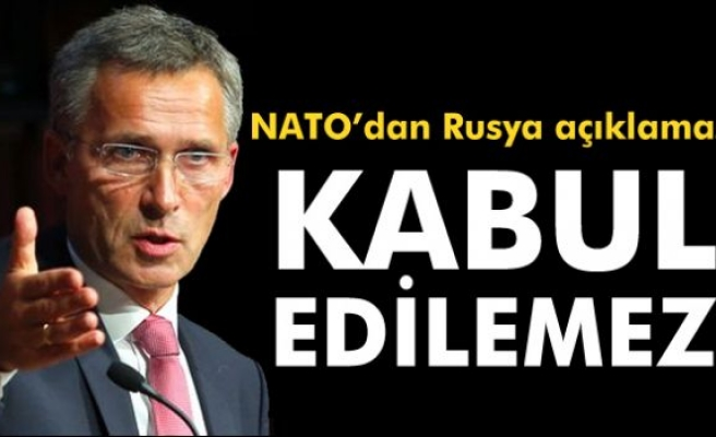NATO Genel Sekreteri Jens Stoltenberg: 'Kabul edilemez'