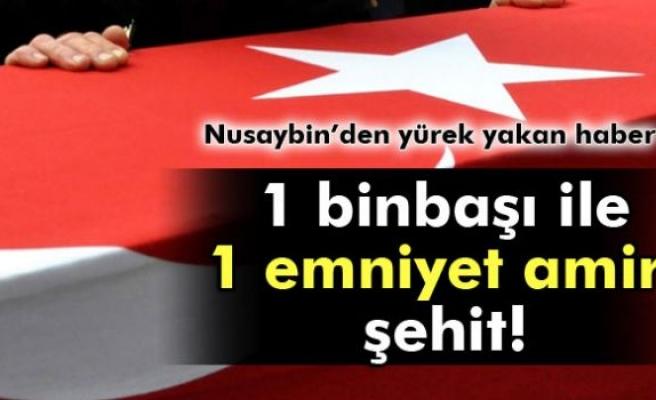 Nusaybin'de patlama: 1 binbaşı ile 1 emniyet amiri şehit