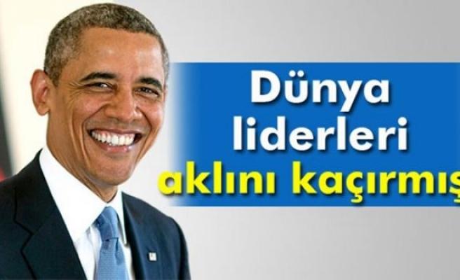 Obama: 'Dünya liderlerinin büyük bir kısmı aklını kaçırmış'
