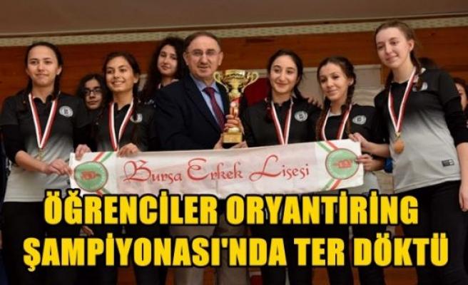 Öğrenciler Oryantiring Şampiyonası'nda ter döktü