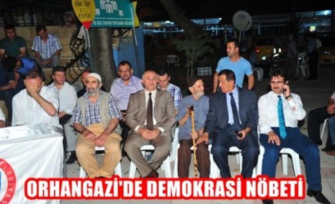 Orhangazi'de demokrasi nöbeti