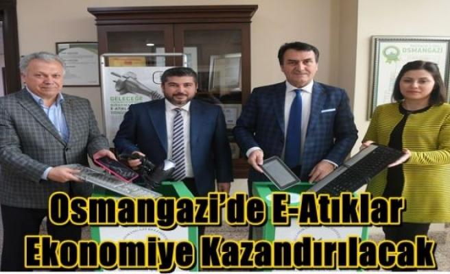 Osmangazi'de E-Atıklar Ekonomiye Kazandırılacak