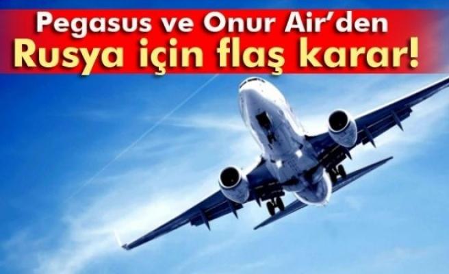 Pegasus ve Onur Air, Rusya uçuşlarını durdurdu