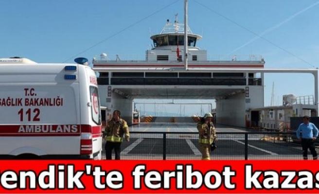 Pendik'te feribot kazası