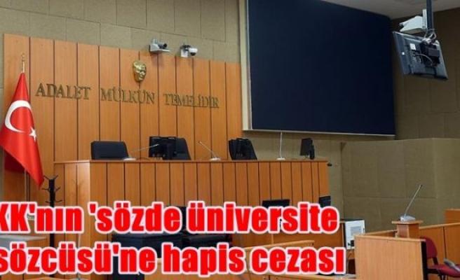 PKK'nın 'sözde üniversite il sözcüsü'ne hapis cezası