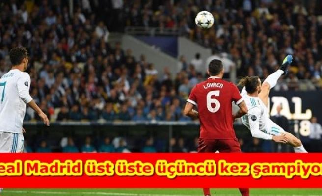 Real Madrid üst üste üçüncü kez şampiyon