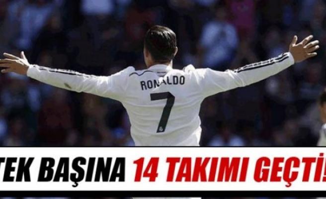 Roanldo tek başına 14 takımdan fazla gol attı