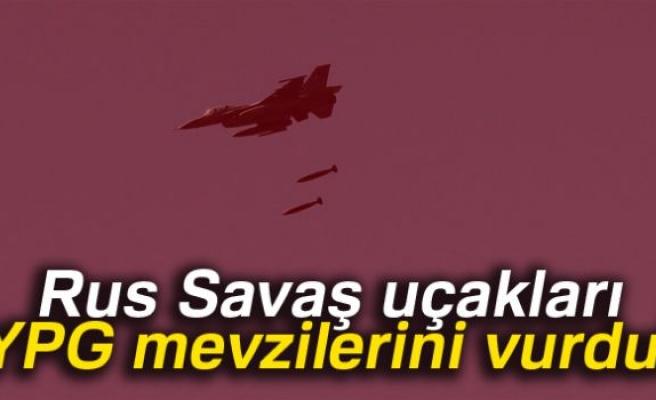 Ruslar, YPG mevzilerini vurdu
