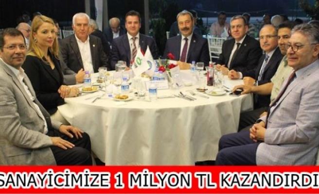 """SANAYİCİMİZE 1 MİLYON TL KAZANDIRDIK"""