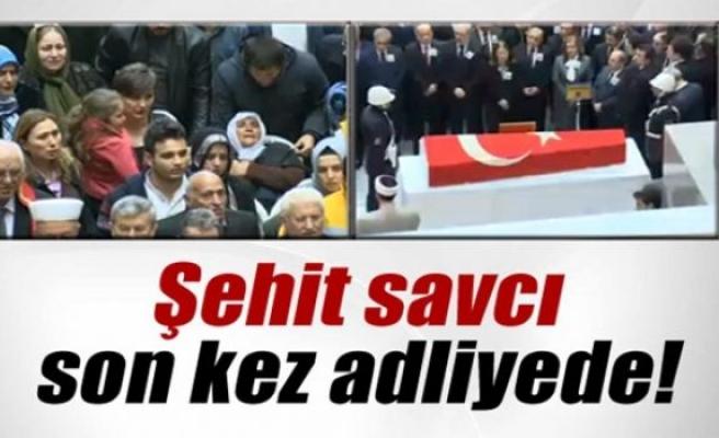 Şehit Savcı Mehmet Selim Kiraz için adliyede veda