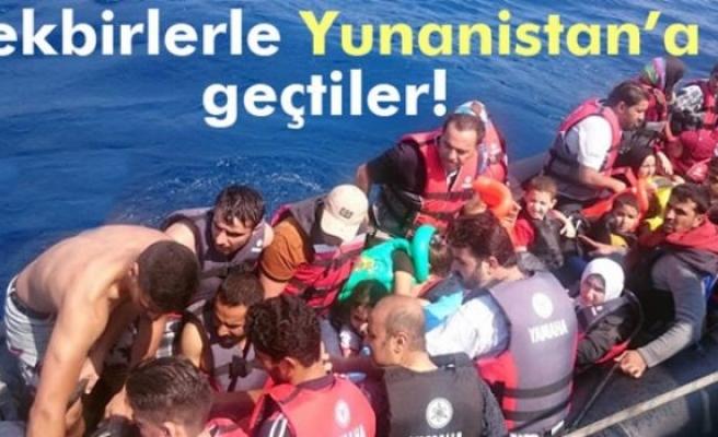 Sığınmacılar tekbir getirerek Yunanistan'a gitti