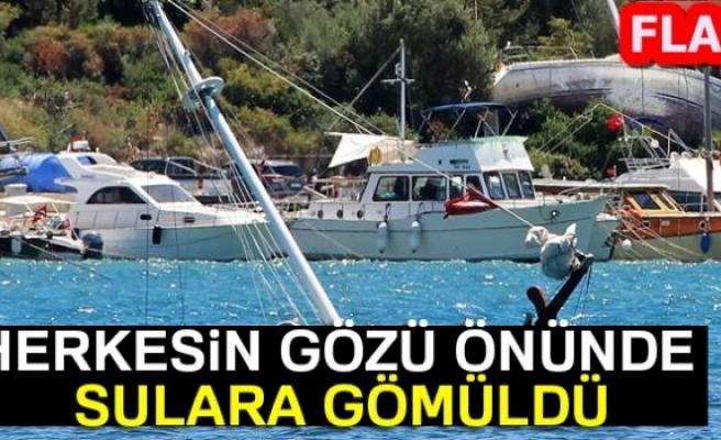SULARA GÖMÜLDÜ!