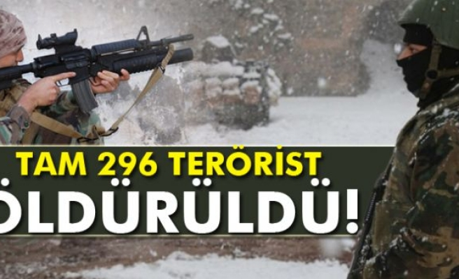 Sur, Cizre ve Silopi'de 296 terörist etkisiz hale getirildi