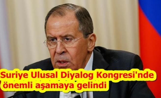 Suriye Ulusal Diyalog Kongresi'nde önemli aşamaya gelindi