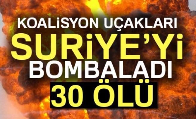 Suriye'de hava saldırısı: 30 ölü