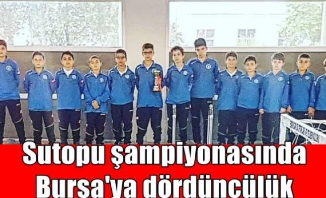 Sutopu şampiyonasında Bursa'ya dördüncülük