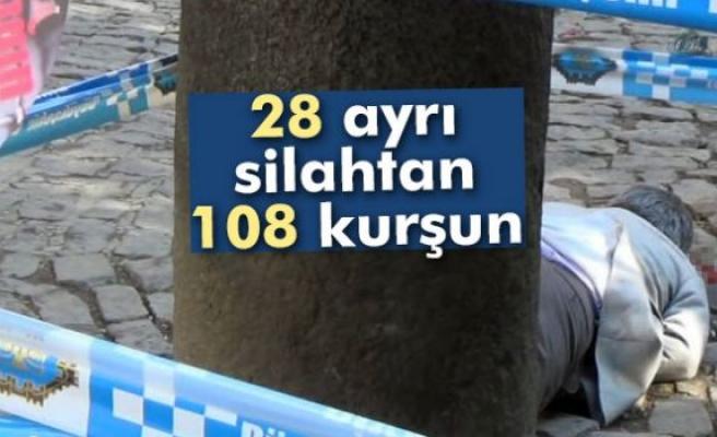 Tahir Elçi olayında 28 ayrı silahtan 108 kurşun sıkılmış