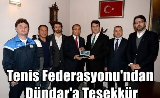 Tenis Federasyonu'ndan Dündar'a Teşekkür