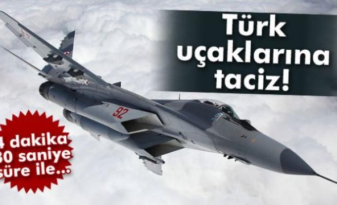 Türk jetlerine Suriye sınırında taciz