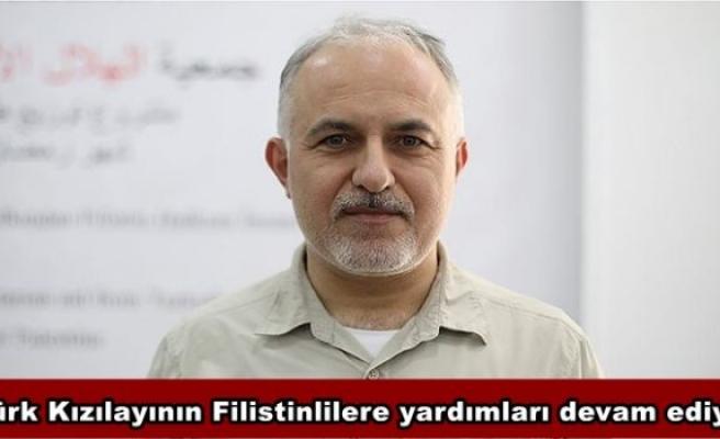 Türk Kızılayının Filistinlilere yardımları devam ediyor