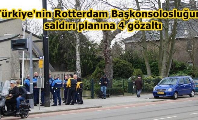 Türkiye'nin Rotterdam Başkonsolosluğuna saldırı planına 4 gözaltı