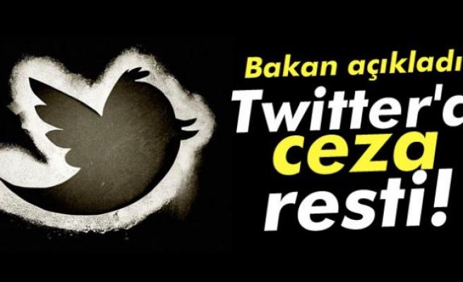 Twitter'a ceza resti!