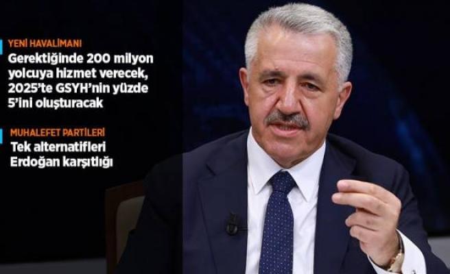 Ulaştırma, Denizcilik ve Haberleşme Bakanı Arslan: 1,5 milyon insana istihdam sağlanacak