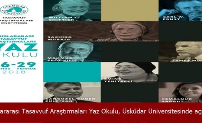 Uluslararası Tasavvuf Araştırmaları Yaz Okulu, Üsküdar Üniversitesinde açılıyor