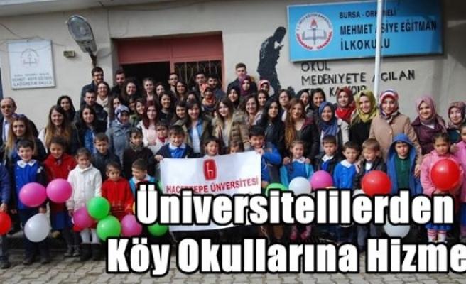 Üniversitelilerden Köy Okullarına Hizmet