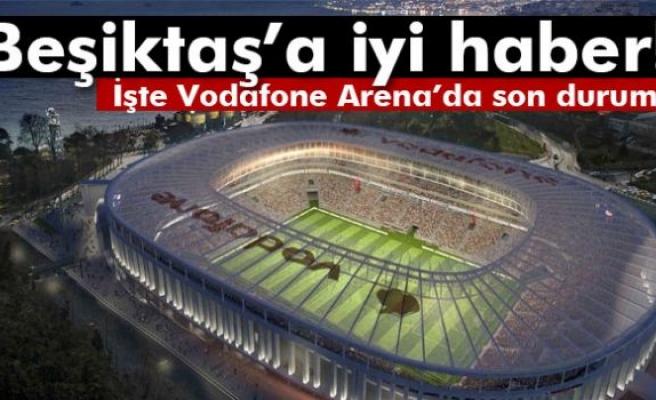 Vodafone Arena'nın çatısı yükseliyor