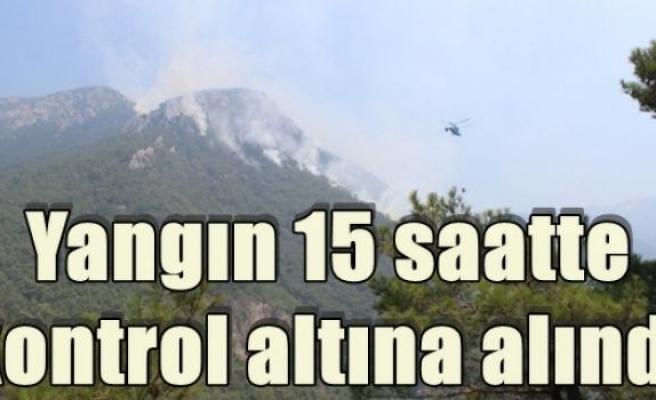 Yangın 15 saatte kontrol altına alındı
