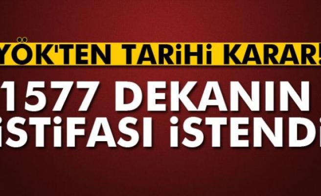YÖK, bin 577 dekanın istifasını istedi!