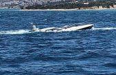 Yan yatan yattaki 2 kişi sahil güvenlik ekiplerince kurtarıldı