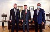 GELECEK PARTİSİ GENEL BAŞKANI PROF.DR. AHMET DAVUTOĞLU'NA İNCE ZİYARET