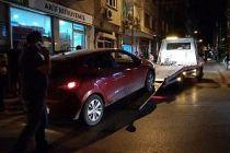 Polisten kaçarken kaza yapan otomobilde uyuşturucu madde ele geçirildi